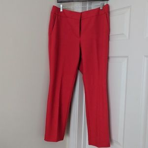 EUC Red Cropped Slacks